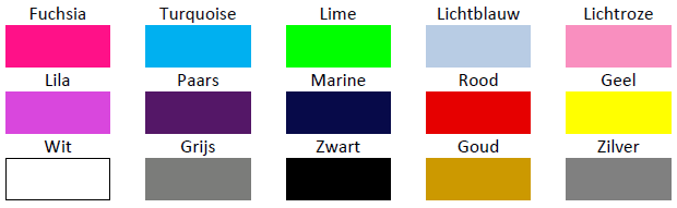 Kleuren bedrukking